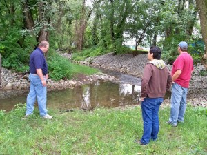 JCWA and DEP survey recently stabilized stream banks
