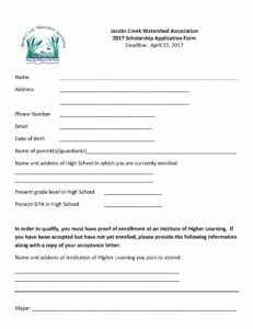 JCWA Scholarship - General Application 2017_Page_2